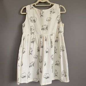 Leah Goren Bear Print Cotton Dress